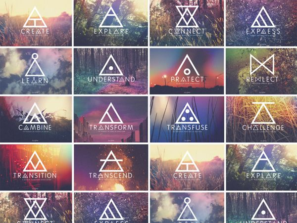 What's Your Glyph? by Saxon Campbell, via Behance                                                                                                                                                     More