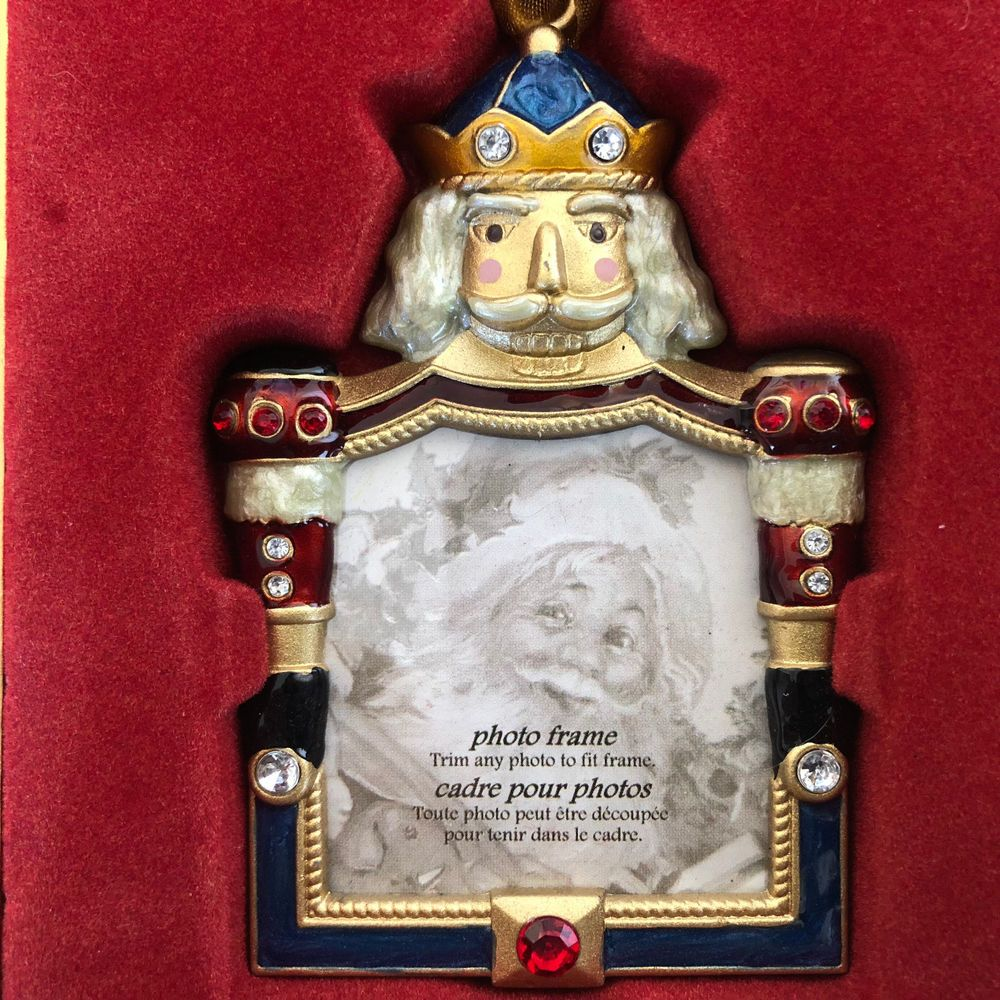 Costco Photo Frame Christmas Ornament Enamel on Metal