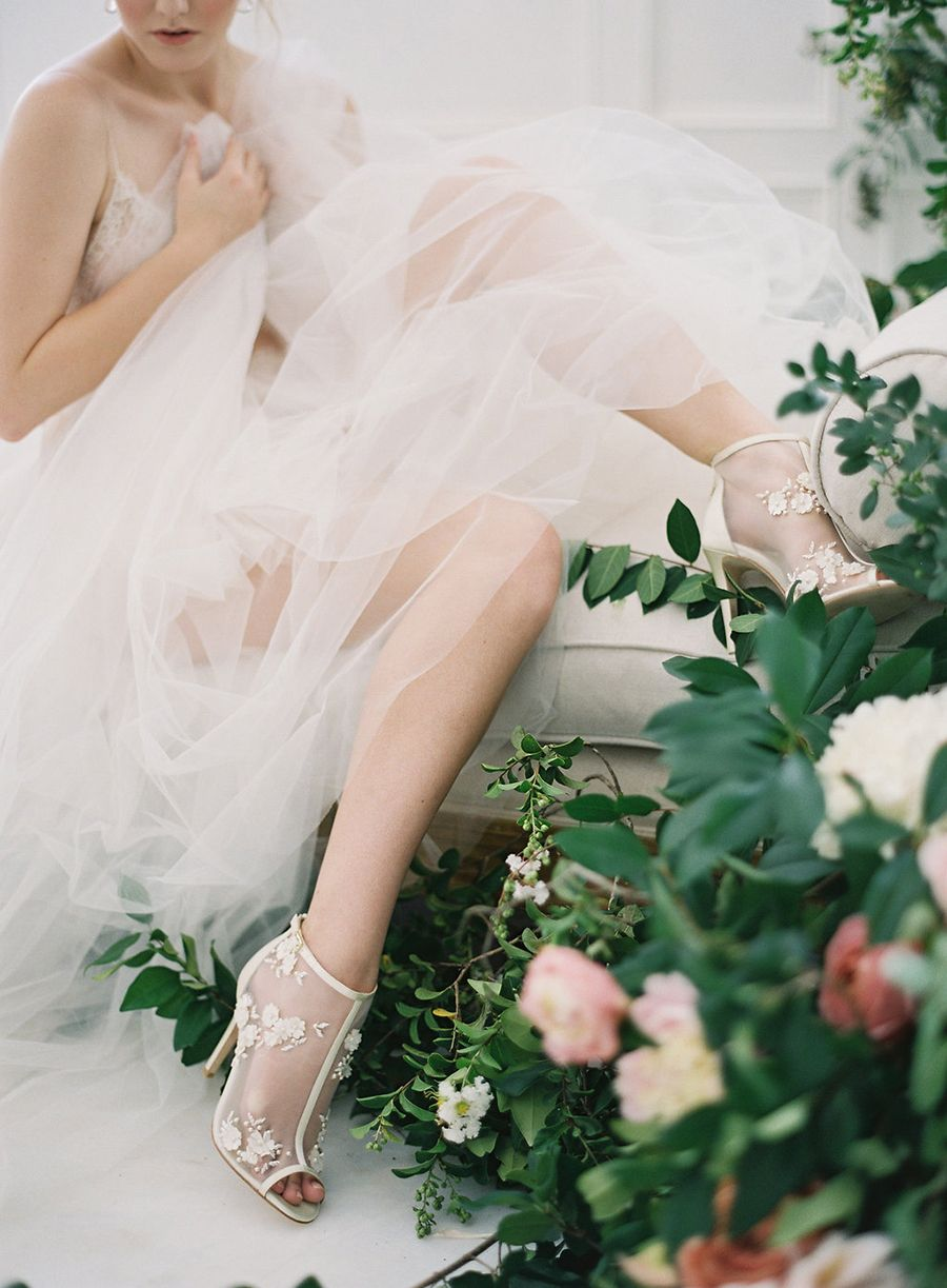 Enchanted Bella Belle And Joy Proctor Team Up For A Collection Of Bridal Shoes White Bridal Shoes Enchanted Bridal Wedding Gowns Lace