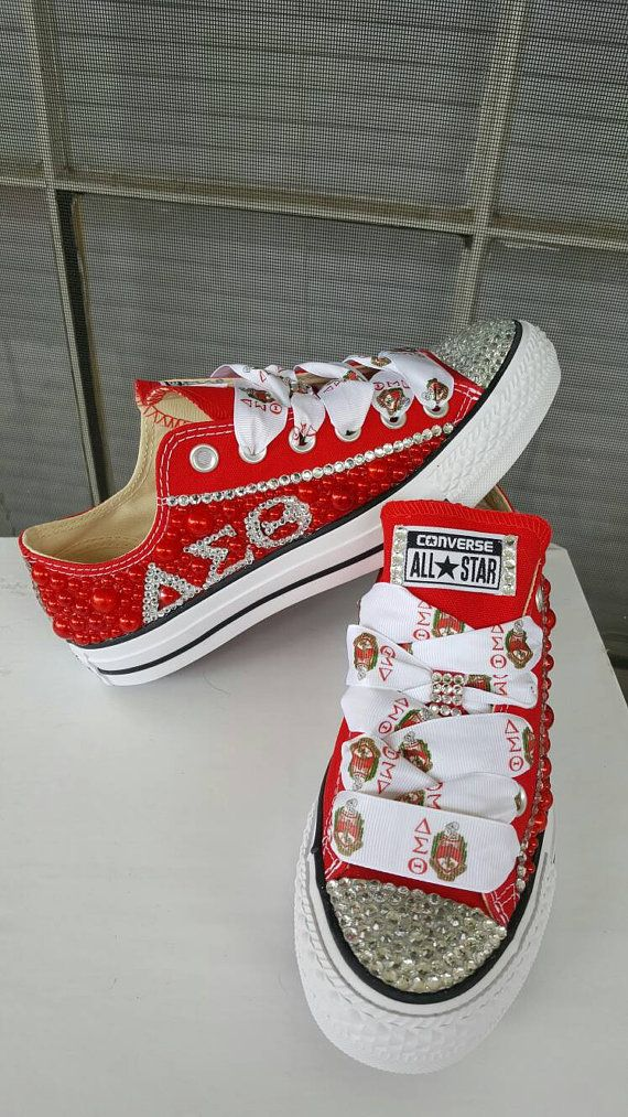 aaa9063c5678 Custom Rhinestone Converse Sorority Themed by KlutteredKicks