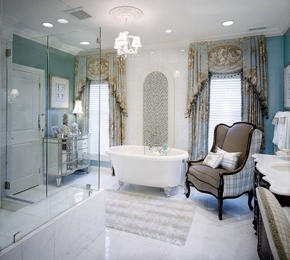 Photo Album For Website Bathroom The Wonderful Design Of Elegant Bathroom With White Bathtub And Chandelier And Lighting On White Roof With Best Curtain On White Glass Window