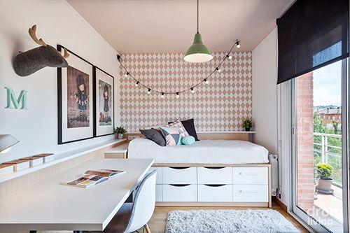 diseño de interiores dormitorios pequeños | Decoración de interiores ...