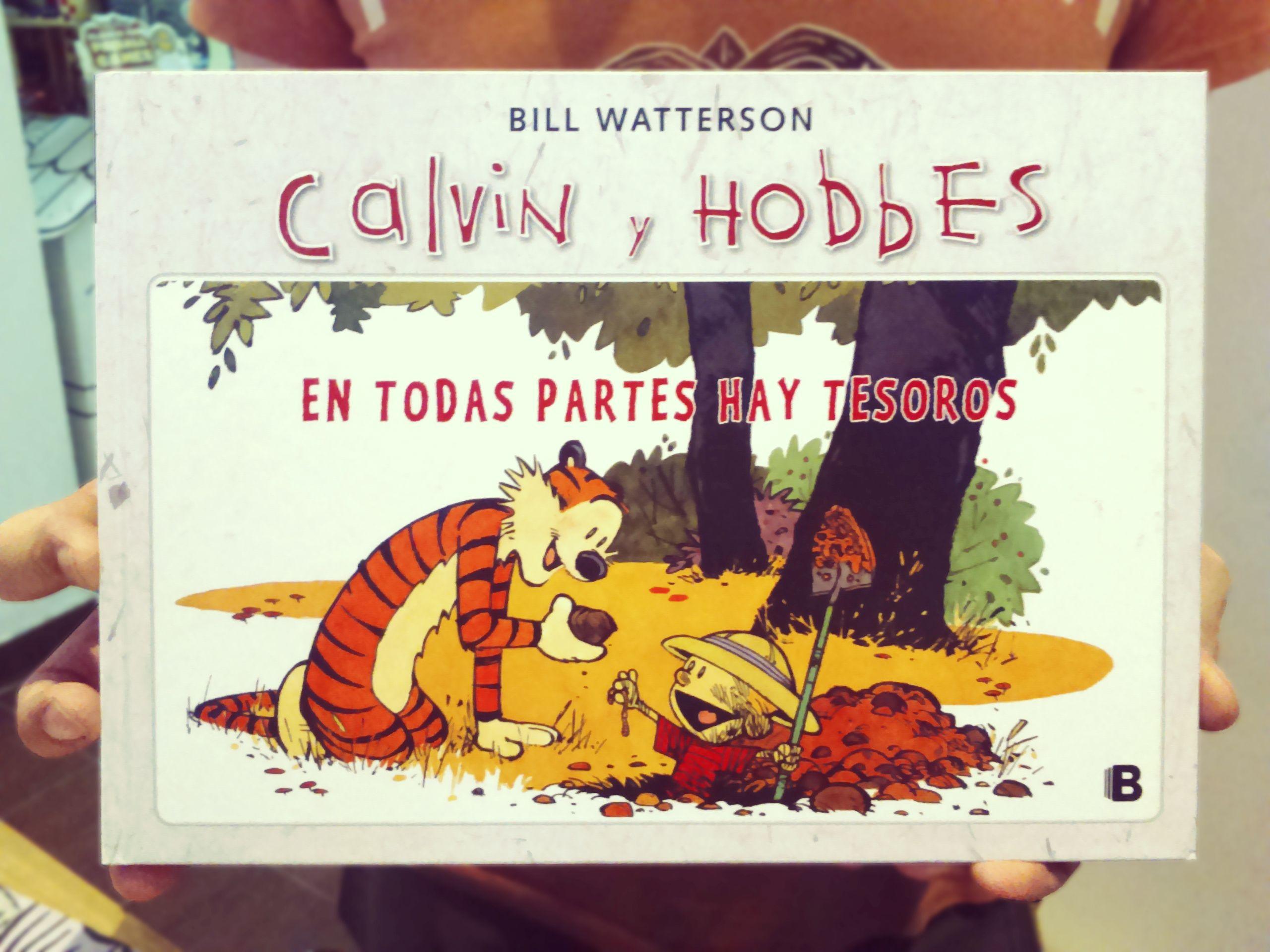 Calvin y Hobbes, en todas partes hay tesoros. Bill Waterson. Ediciones B.