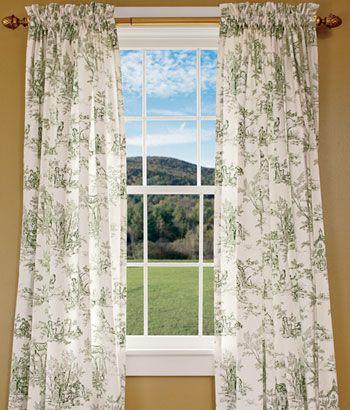 Lenoxdale Toile Rod Pocket Curtains