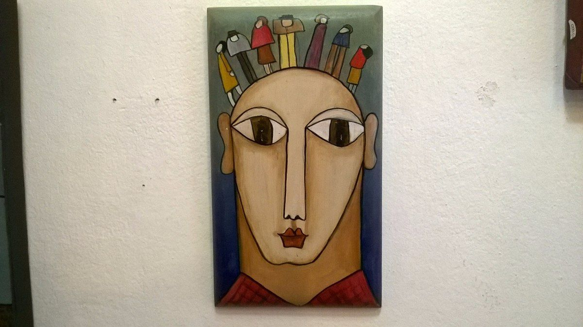 Daniel Barbeito- Acrílico Sobre Madera 24 X 13,5 - U$S 100,00 en MercadoLibre