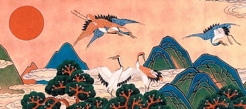 Traditional Korean Crane Art. | Arte | Arte y Corazones