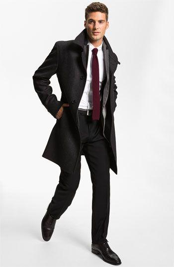 BOSS Black Top Coat, J.P. Tilford Samuelsohn Sportcoat & BOSS Black Trousers | Nordstrom