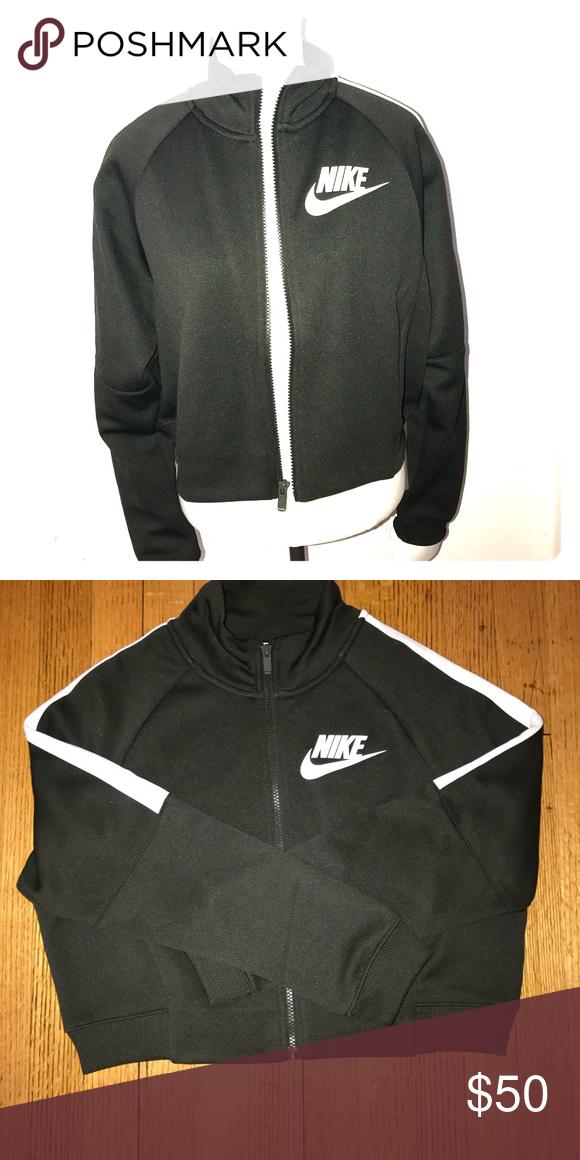 Nike track jacket Olive green cropped jacket Never worn No tags Size M 87%  polyester 13%cotton Nike Jackets   Coats 96b080c30
