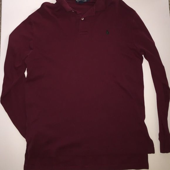 Men 39 s burgundy ralph polo ralph lauren long sleeve long Burgundy polo shirt boys