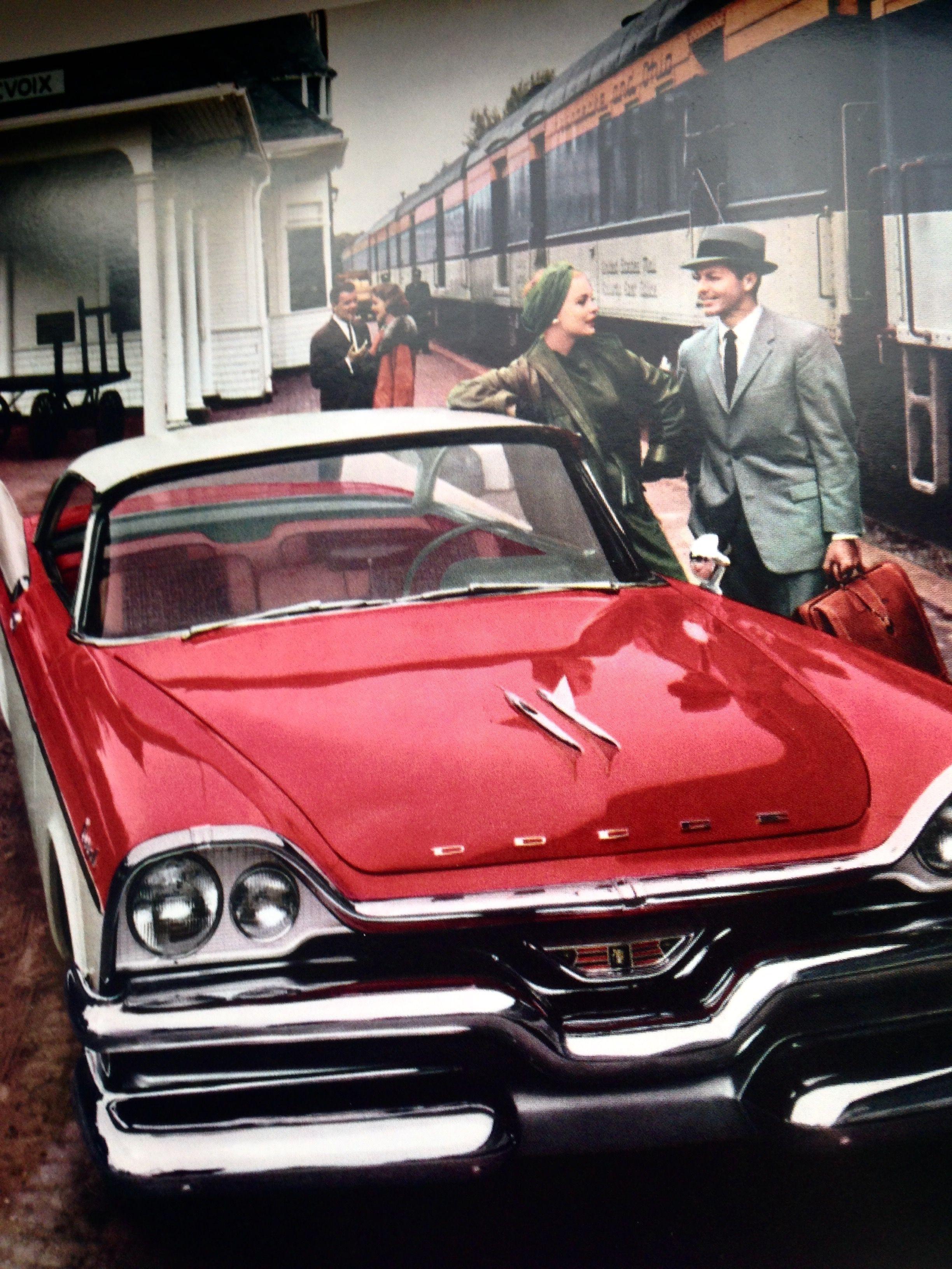 1957 Dodge Coronet Lancer Hardtop At The Railway Station 1950s Cars