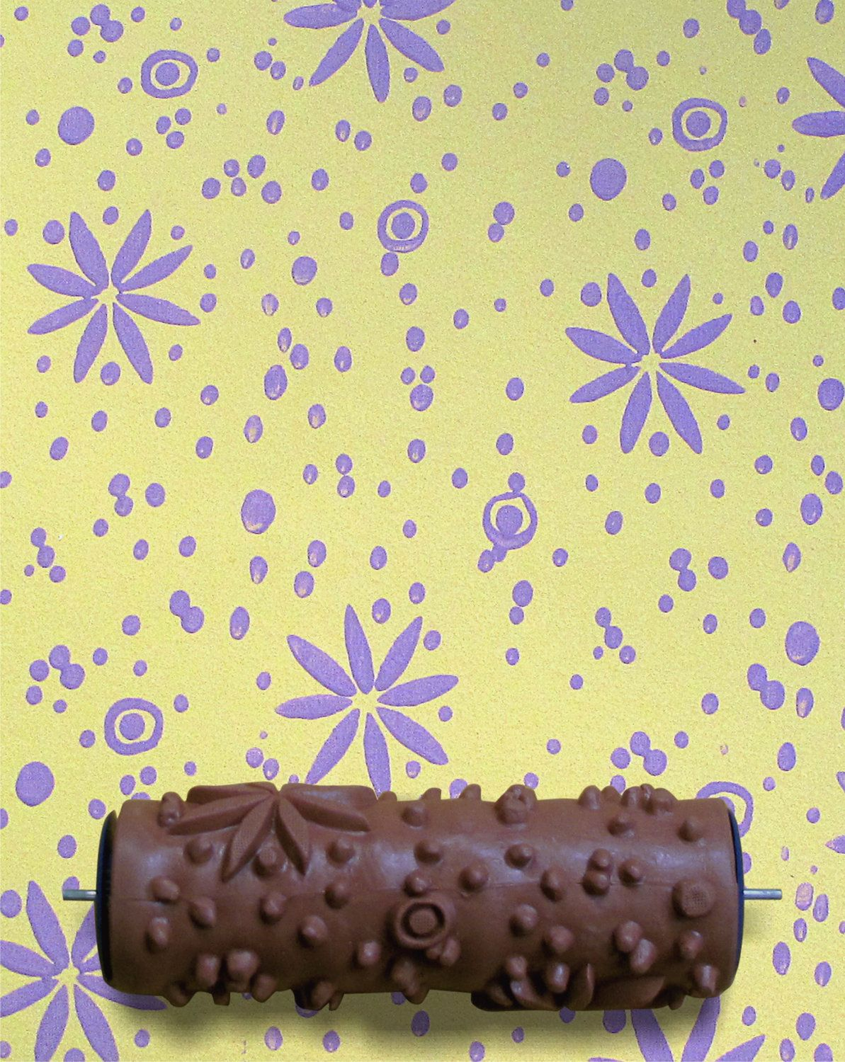 Patterned paint roller in sweet dreams floral flower design by ...