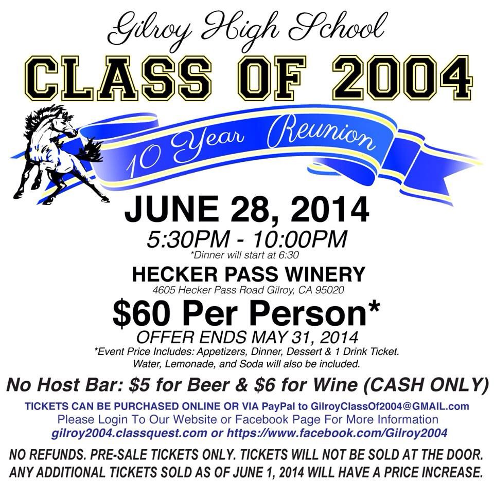 High School Reunion Flyer High School Classes High