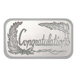 Congratulations 1oz 999 Silver Bar Dated 2020 In Gift Box Custom Mints Silver Bars Beautiful Wedding Gift