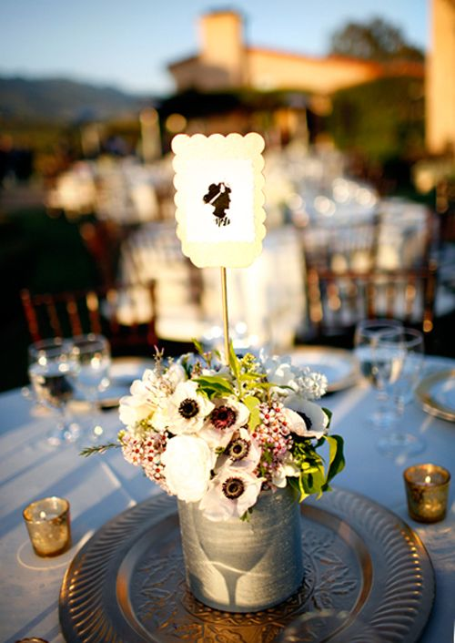 Table number silhouette do it yourself wedding project silhouette diy wedding projects solutioingenieria Gallery