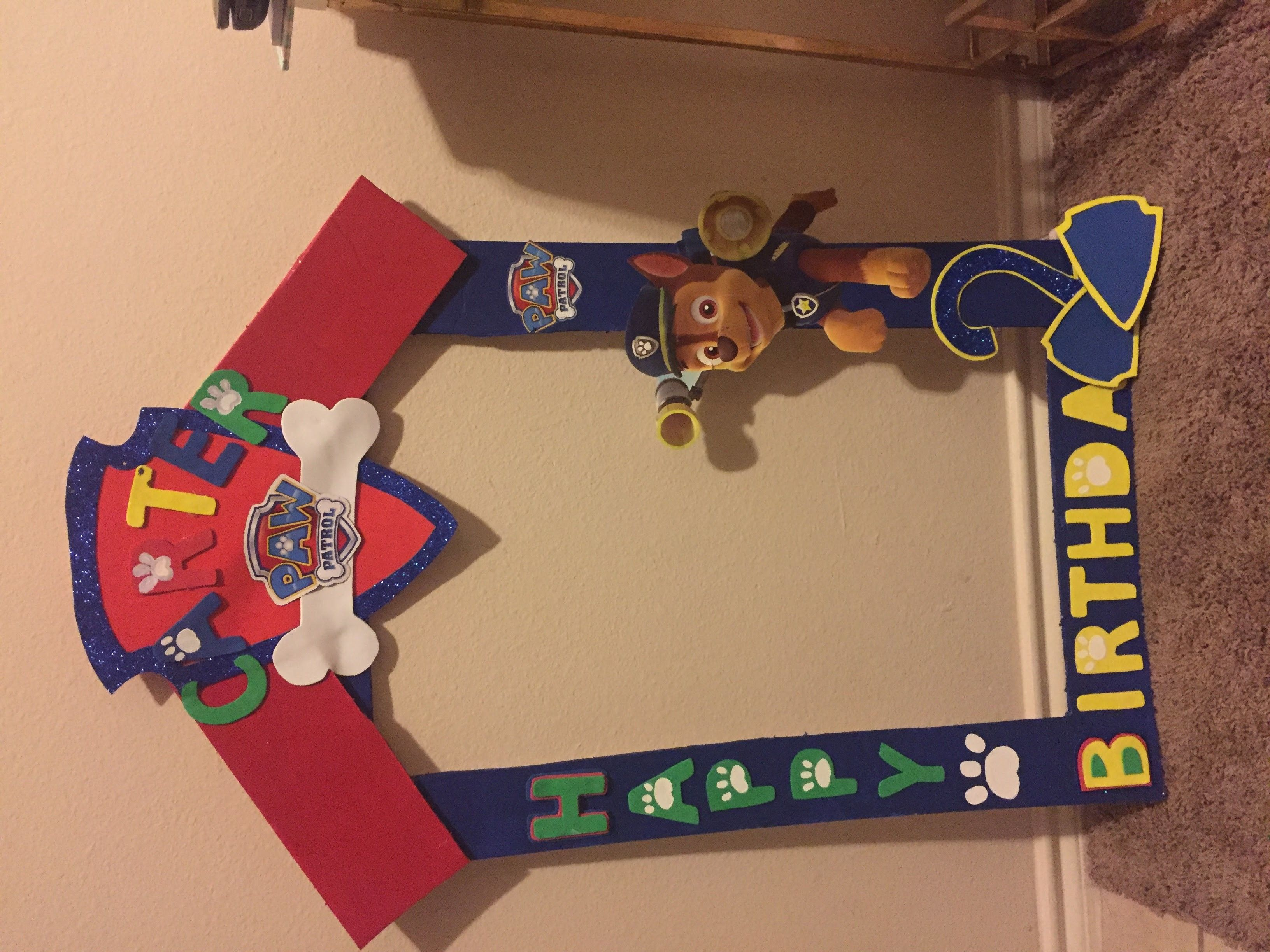 Birthday table decorations boy - Diy Party Frame Paw Patrol