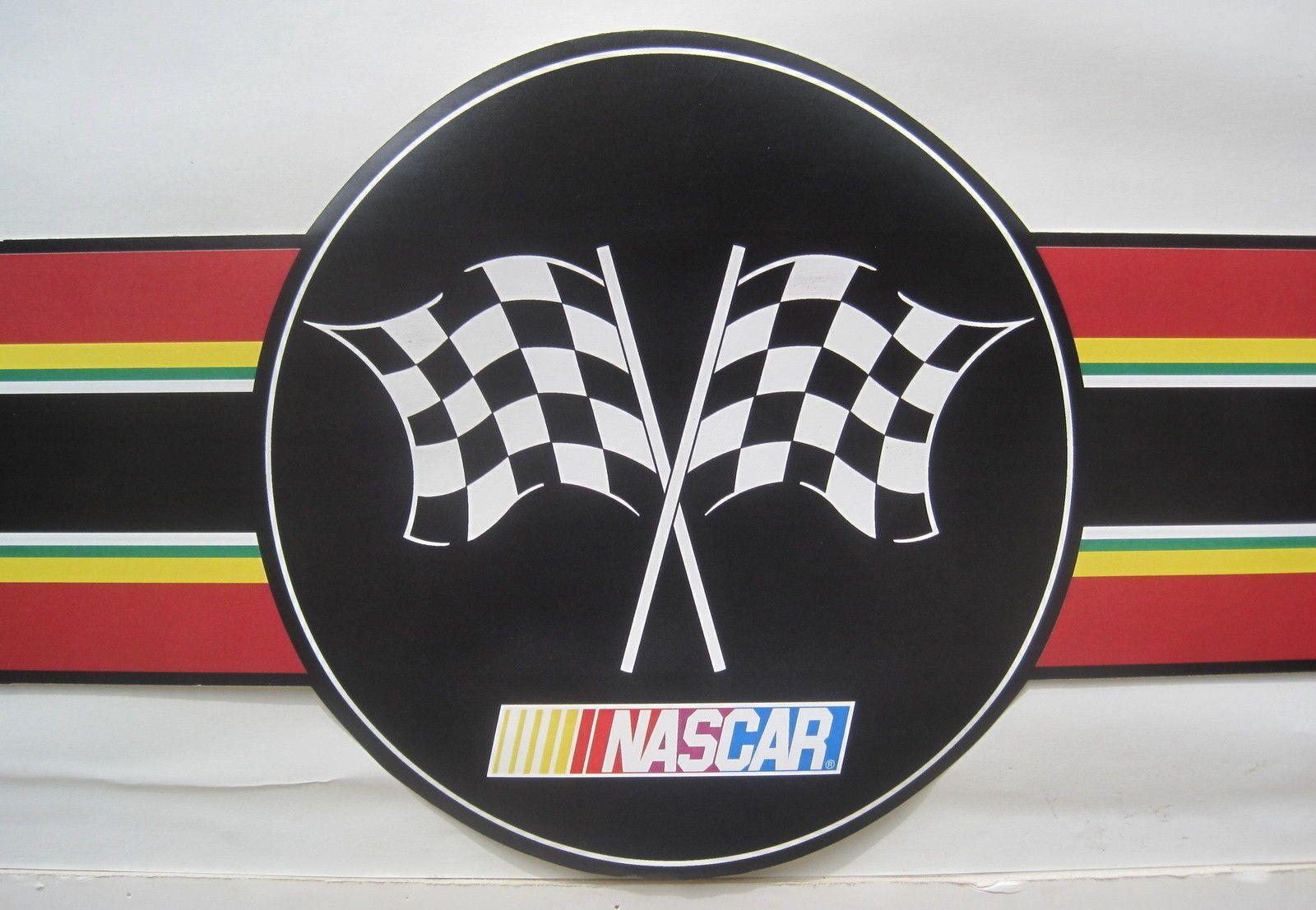 Do you know how to hang wallpaper border? Nascar Racing Logo Stock Car Wallpaper Border 8 1 2 Black 34878010670 Ebay Stock Car Car Wallpapers Nascar Racing