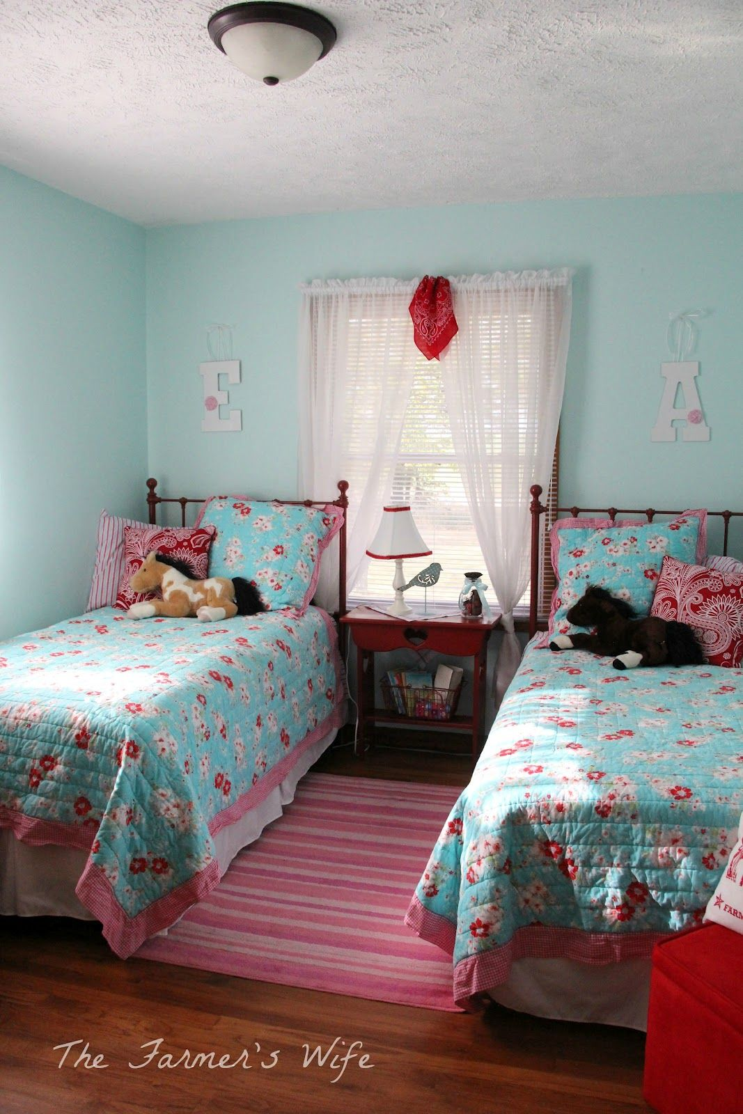 The Farmer S Wife Country Cute Turquoise Amp Red Bedroom