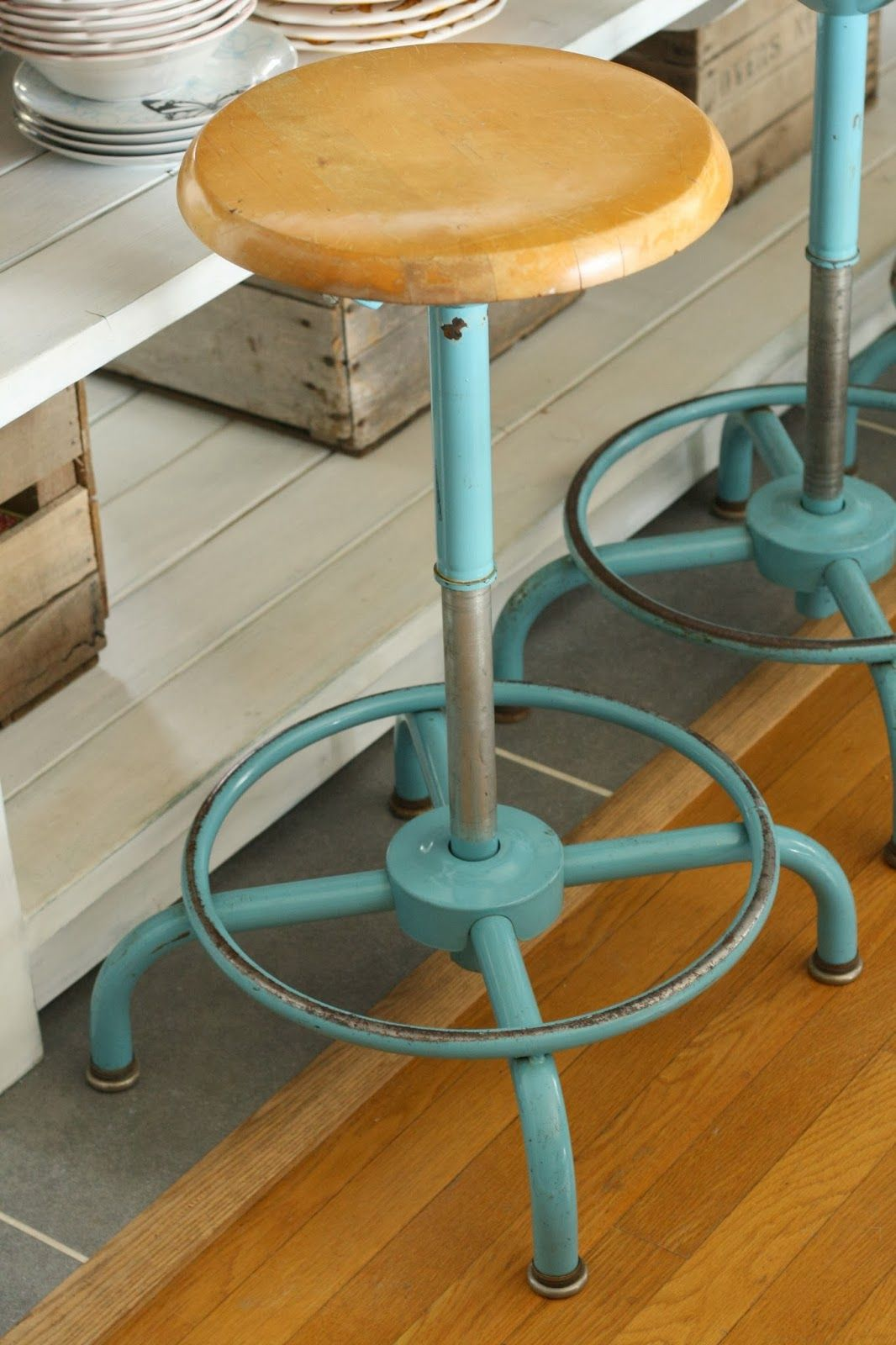 industrial kitchen stools tiles aqua stool furniture and decor pinterest