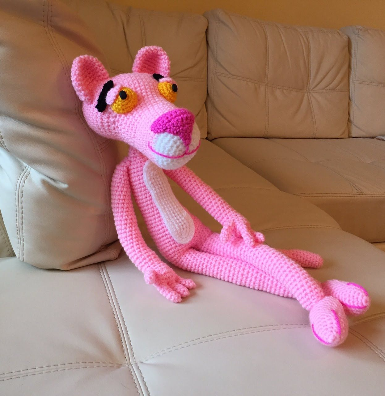 pantera rosa Amigurumi (tutorial schema)/How to crochet pink panther ...
