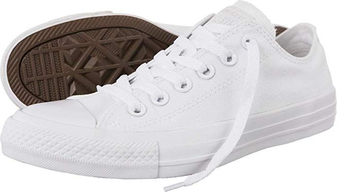 1987ec99174c20 Converse Chuck Taylor All Star Low Sneakers Optical White Mens 12 Review