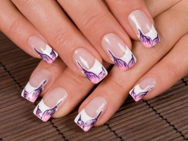 French manicure nail designs 2012
