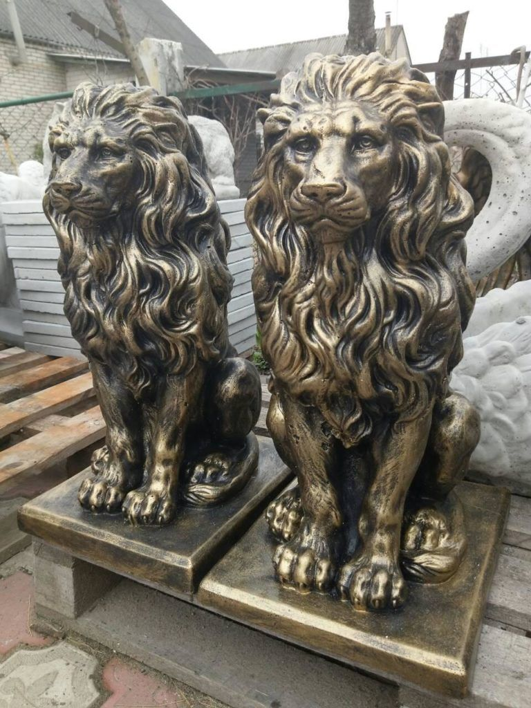 скульптуры львов из бетона купить