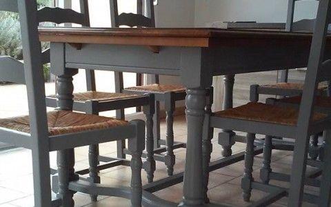Relooking d 39 une table et de ses chaises en 2020 avec - Relooker ses meubles de cuisine ...