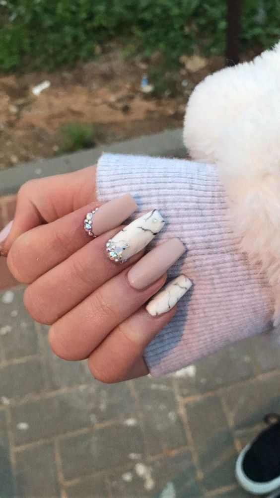Photo of 36 Trendy and attractive marble coffin nails design – page 30 – My Bea …
