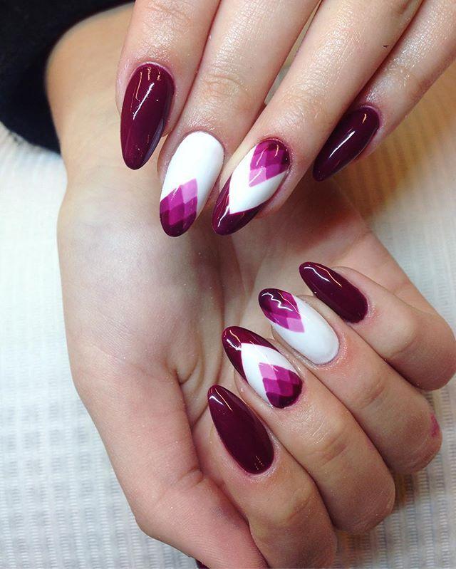 Geometric Ombre Nails Unghii Nail Designs Magenta Nails și