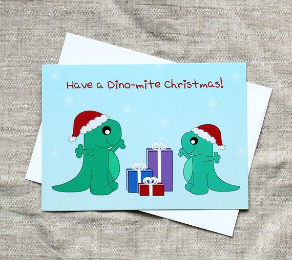 Cute Christmas Cards, A Dino-mite Christmas! Christmas cards (10