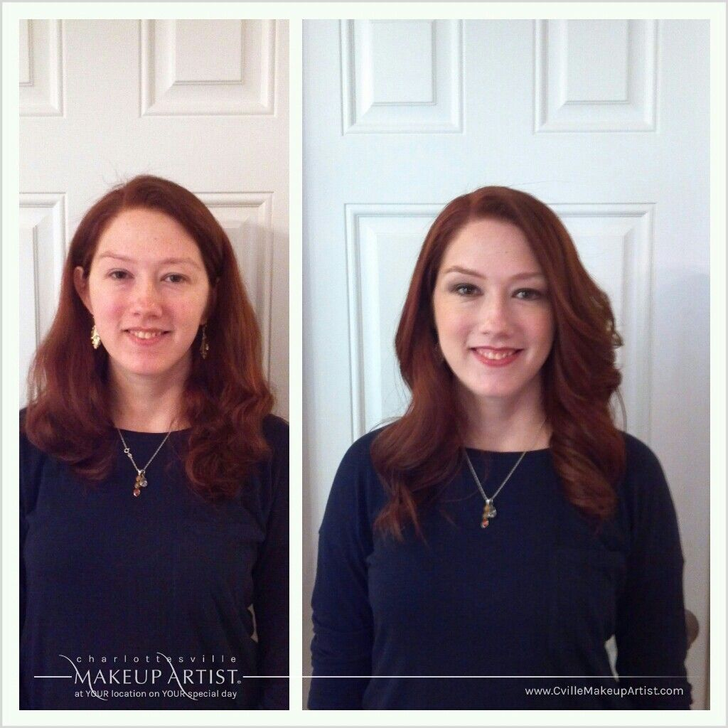 lovely red headed bride gets a hair and make-up trial for her