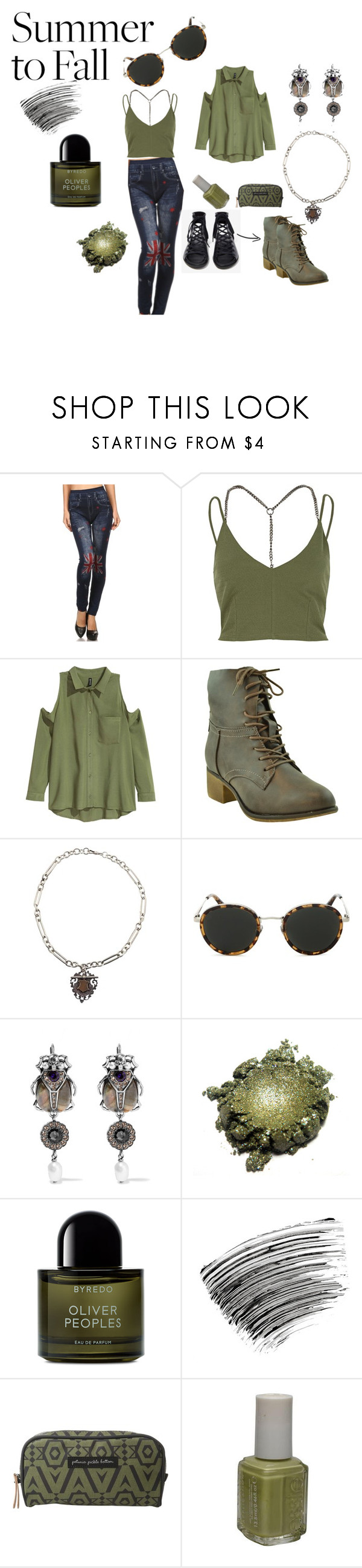 """""""BRIT PATCH JEANS ~ SUMMER TO FALL"""" by michelle858 ❤ liked on Polyvore featuring River Island, Jeffrey Campbell, Taylor Morris, Alexander McQueen, Byredo, Bobbi Brown Cosmetics, Petunia Pickle Bottom and Essie"""