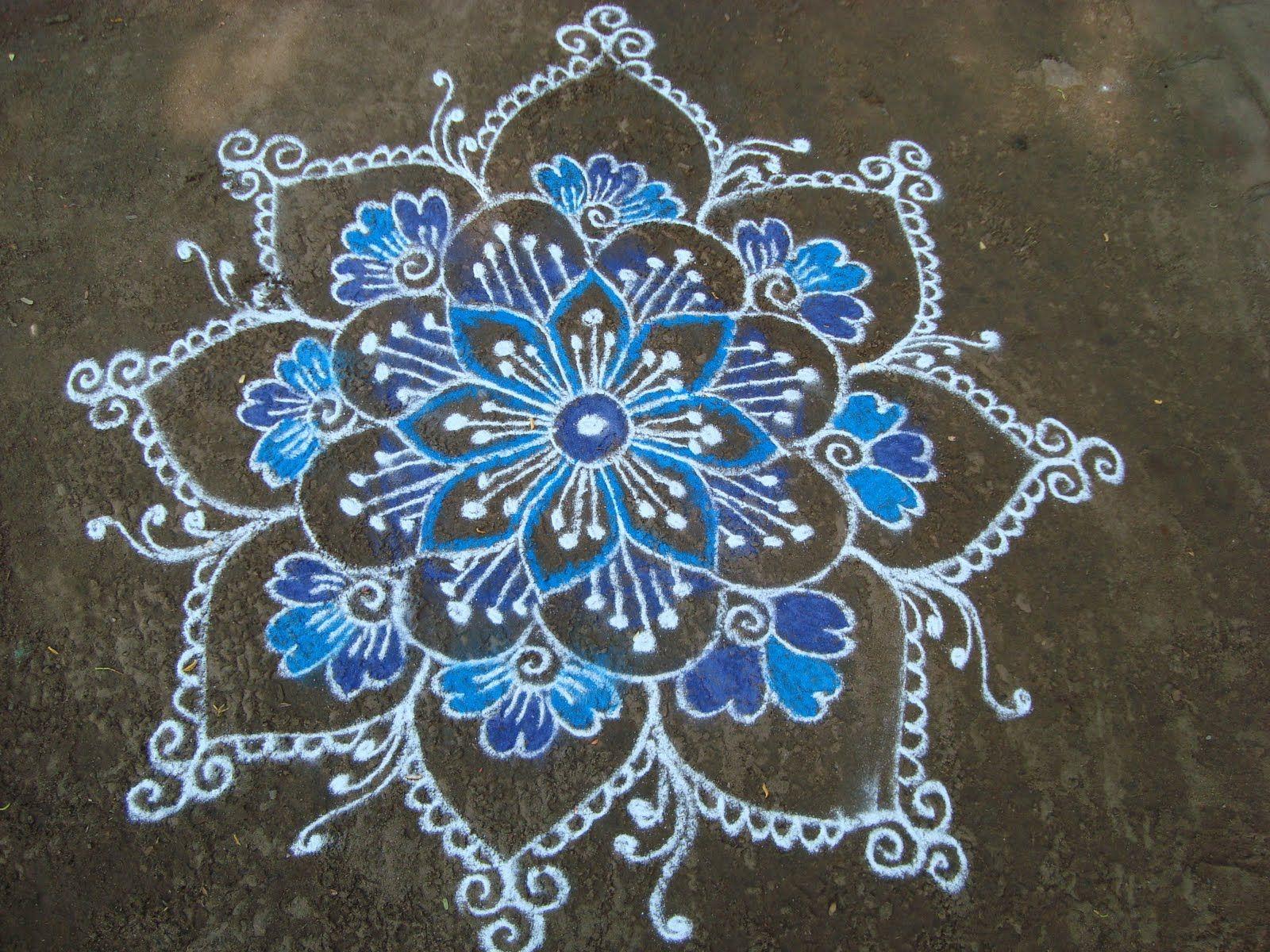20+ Beautiful Rangoli Patterns and Designs Sidewalk