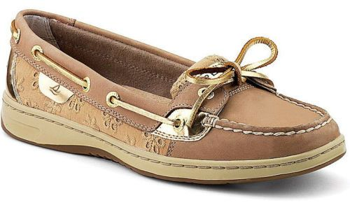 Tan Eyelet Boat Shoes SIZES