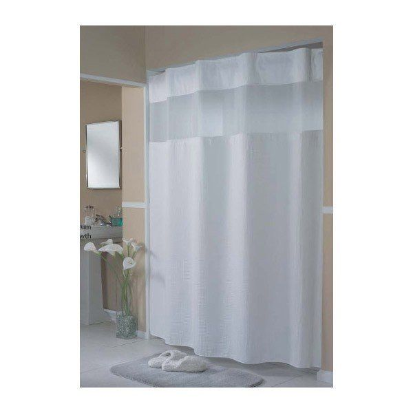 Hookless 71 X 77 Shower Curtain With Liner Mini Waffle Hidden