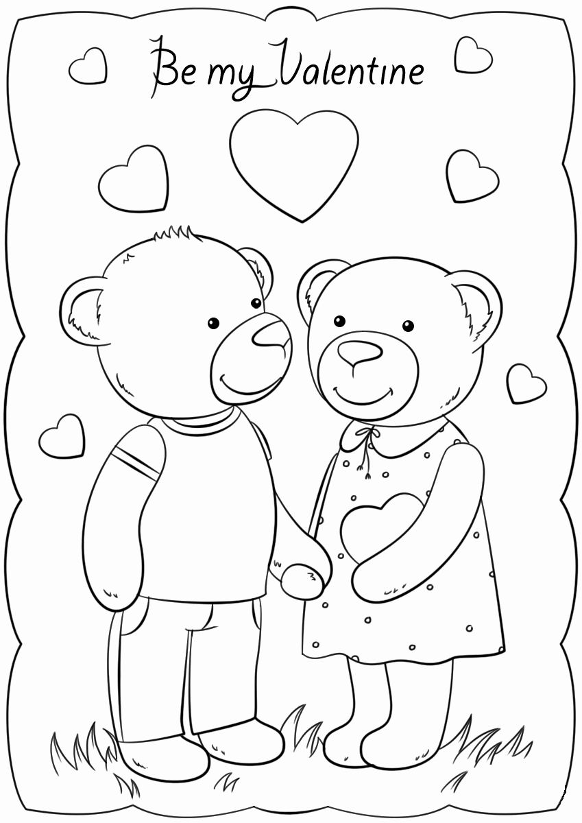 43++ Coloring pages for kidsprintables valentines day ideas