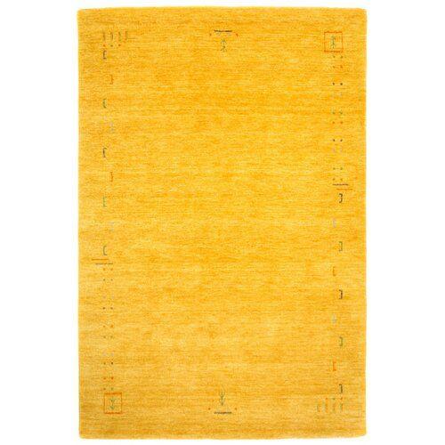 Handgefertigter Teppich Stevie in Gold Bloomsbury Market Teppichgröße: Rechteckig 70 x 140 cm