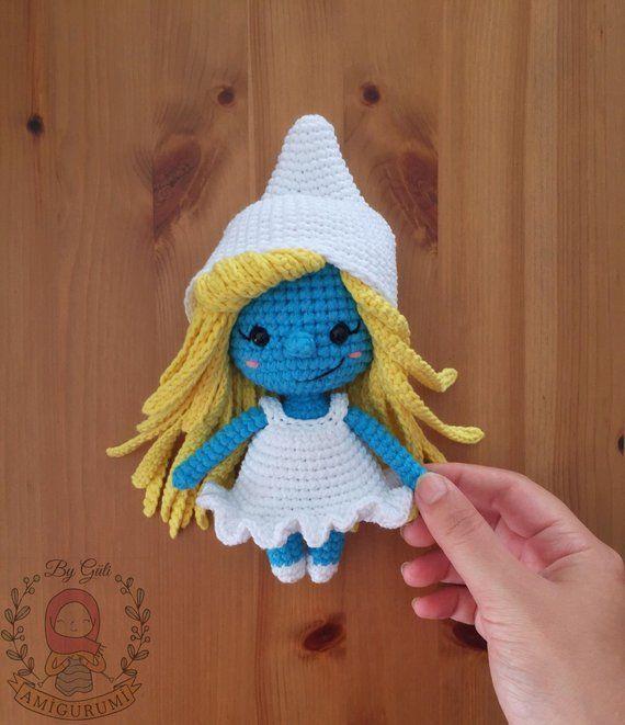 Pattern: SMURFETTE - Amigurumi Crochet Smurf Pattern ...