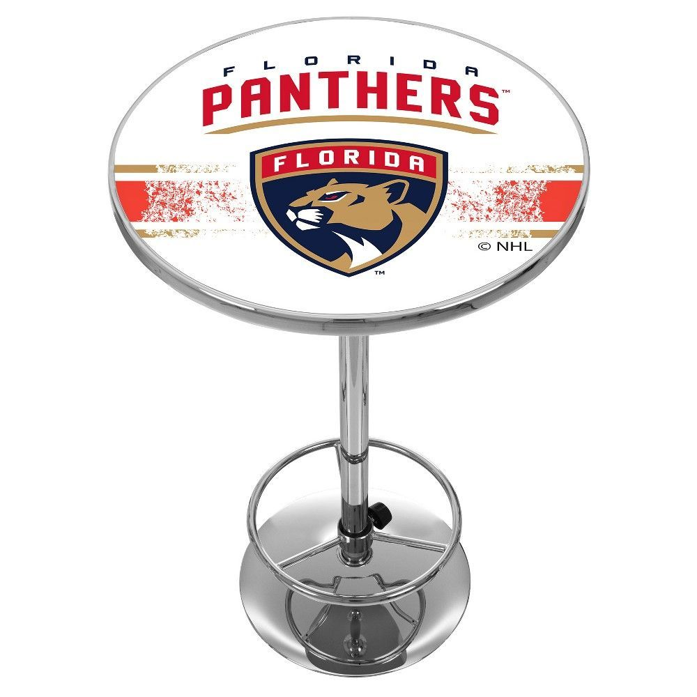 32 Stylish Dining Room Ideas To Impress Your Dinner Guests: NHL Florida Panthers Chrome Pub Table