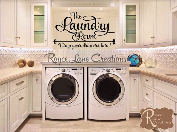 The Laundry Room Drop Your Drawers Here Laundry Room Wall Decal Laundry  Decal Laundry Wall Decal  Laundry Room Decor  Laundry Decals