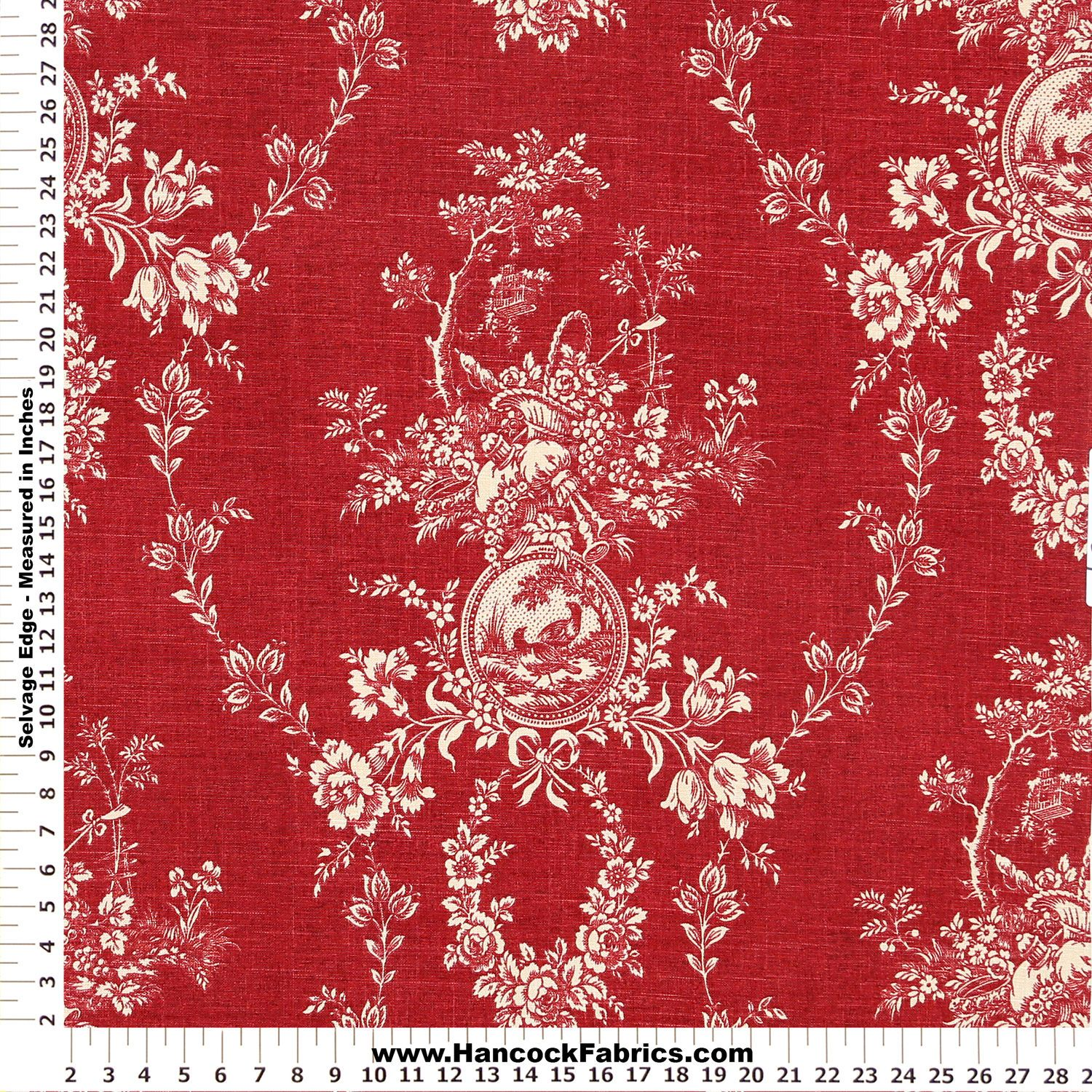 Waverly Red Toile Fabric Google Search With Images French Country Kitchens Waverly