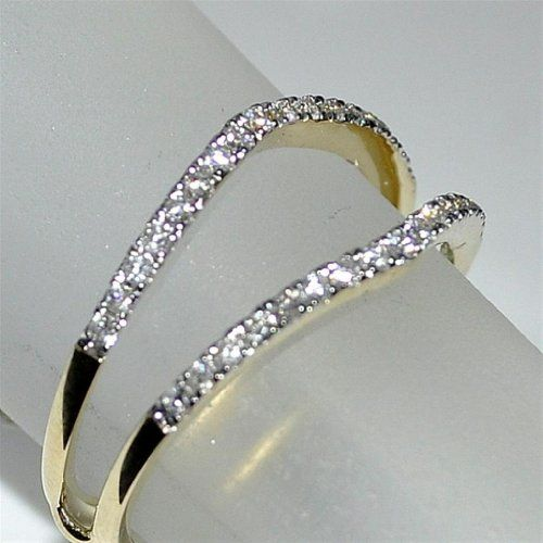 Jacket with Real Diamond 14K Yellow Gold 0 26ct Ring Solitaire
