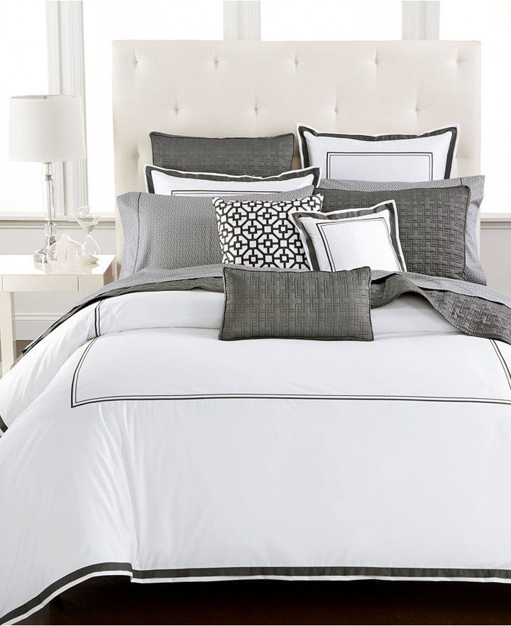 Hotel Collection Embroidered Frame Comforters Created For Macy S Bedding Collections Bed Bath