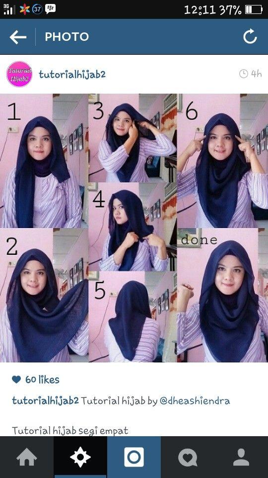 Tutorial Hijab Hijab Style Tutorial Hijab Tutorial Square Hijab Tutorial