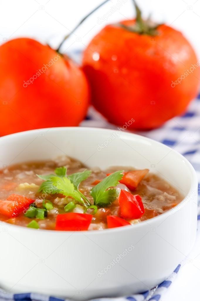 tomatensuppe oriental — rezepte suchen