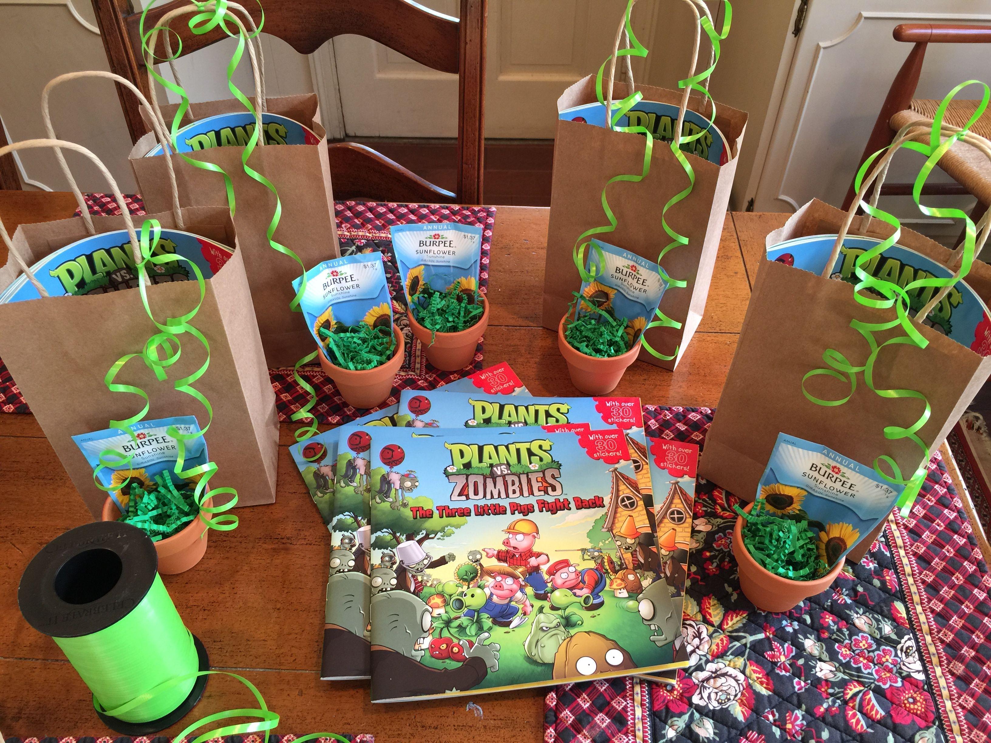 Kara S Party Ideas Plants Vs Zombies Themed Birthday Party