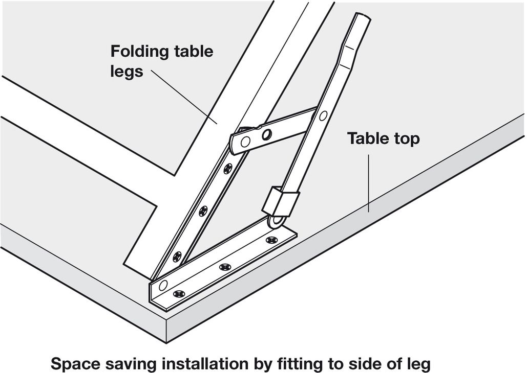 Fantastic Folding Bracket For Tables And Benches Profile Dimensions Uwap Interior Chair Design Uwaporg