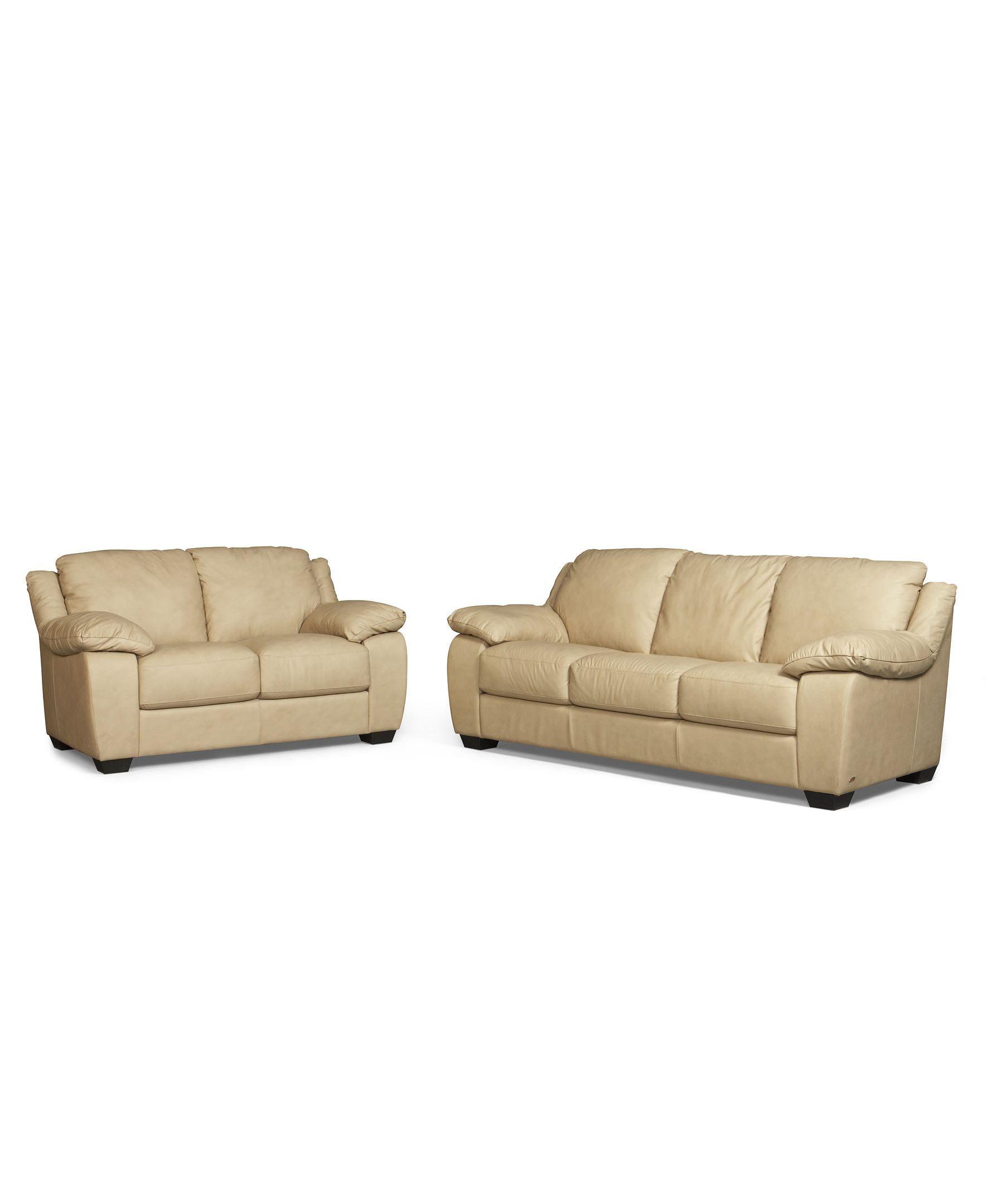 Blair 2 Piece Leather Sofa Set: Sofa And Love Seat