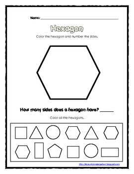 free 2d shapes hexagon song and worksheet kindergarten math pinterest 2d worksheets and songs. Black Bedroom Furniture Sets. Home Design Ideas