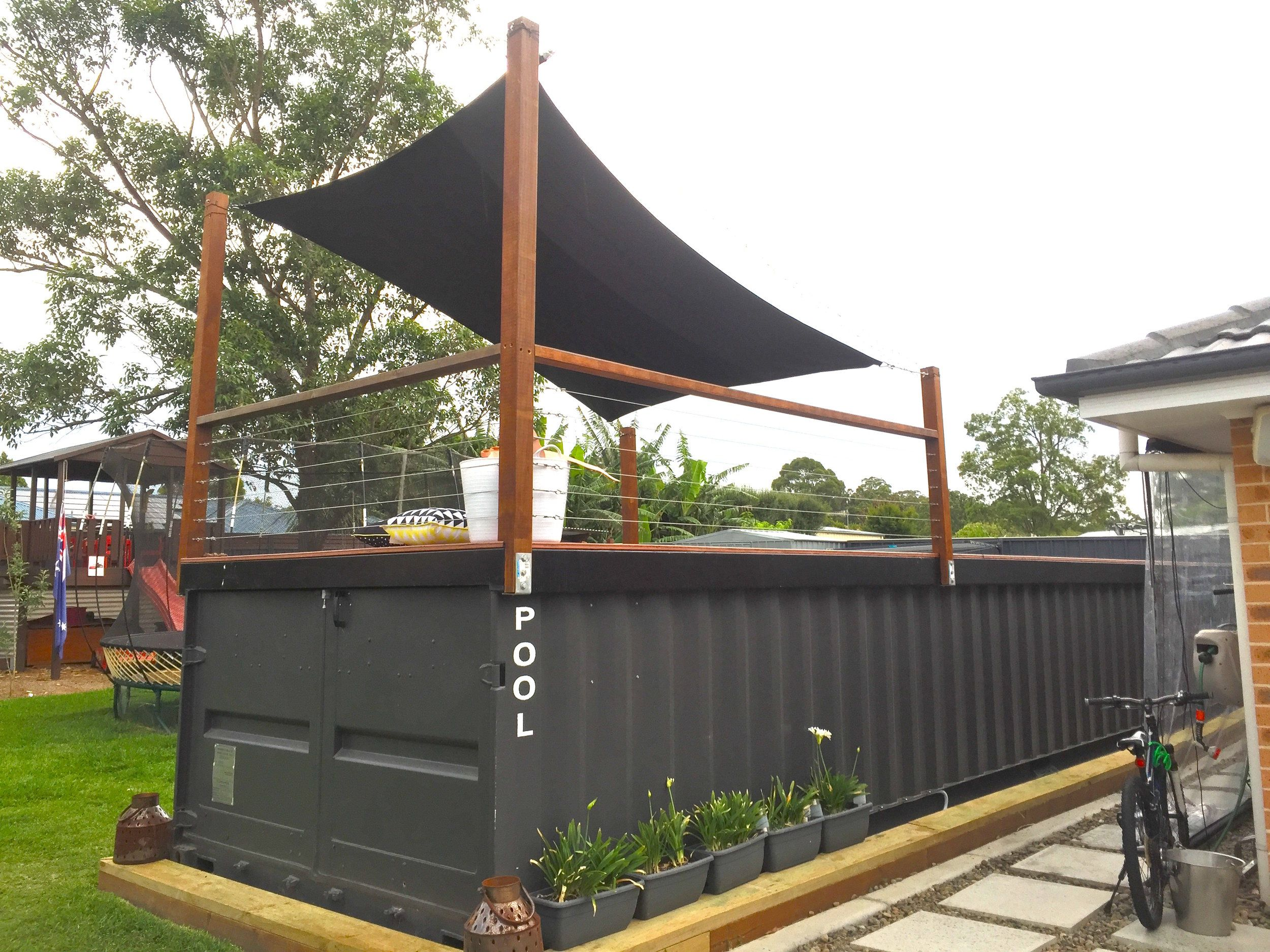 Fencing Inspiration For Our Shipping Container Pool Shipping Container Pool Container Pool Shipping Container Swimming Pool